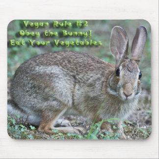 ¡La regla 2 del vegano obedece el conejito Regal Alfombrilla De Ratones