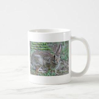 ¡La regla #2 del vegano obedece el conejito! Regal Taza De Café