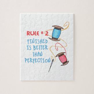 La regla #2 Finished es mejor Rompecabeza