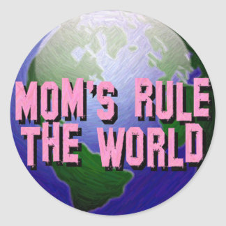 La regla de la mamá los Mundo-Pegatinas Pegatina Redonda