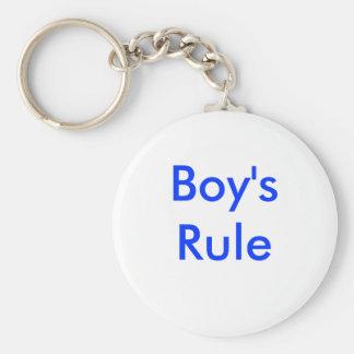 La regla del muchacho llavero redondo tipo pin