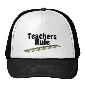 La regla del profesor gorras