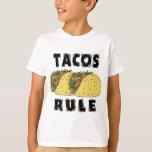 La regla del Tacos embroma la camiseta Playeras