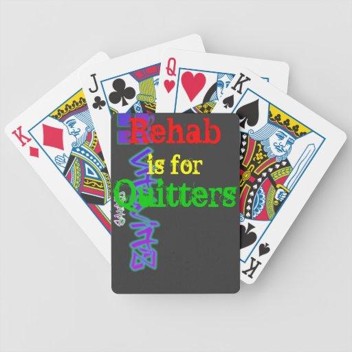 La rehabilitación está para los naipes de los Quit Baraja Cartas De Poker