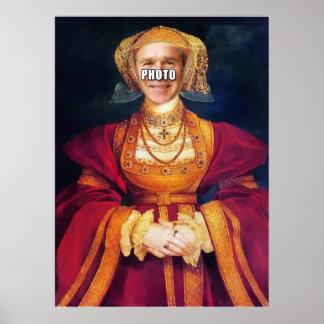 La reina Anne añade su cara Póster