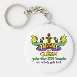 La reina consigue las gotas GRANDES Llavero Redondo Tipo Pin