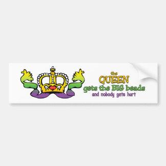 La reina consigue las gotas GRANDES Pegatina Para Auto