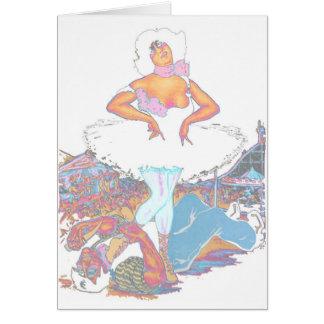 La reina de Carny gana arte del poster del vintage Tarjeta