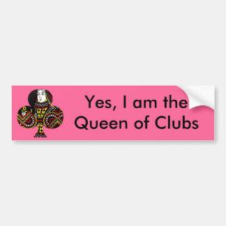 La reina de clubs pegatina para auto