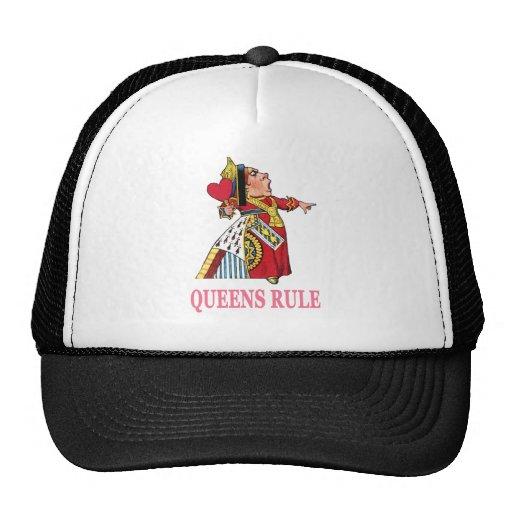 """¡La reina de corazones declara, """"regla del Queens! Gorras"""