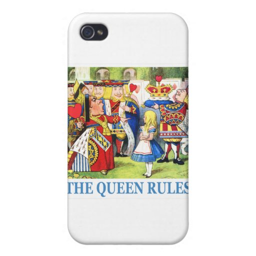 ¡La reina de corazones dice a Alicia, las reglas d iPhone 4 Funda