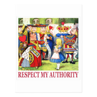 "¡La reina de corazones dice, ""respete mi Tarjetas Postales"