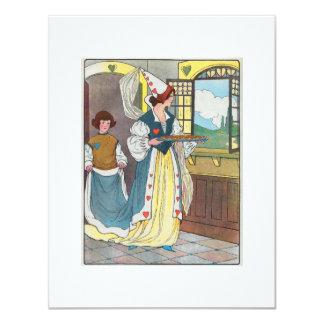 """La reina de corazones, ella hizo algunas tartas invitación 4.25"""" x 5.5"""""""
