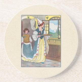 La reina de corazones, ella hizo algunas tartas posavasos diseño
