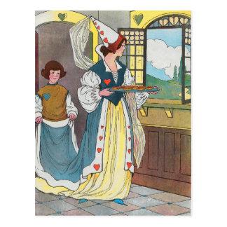 La reina de corazones, ella hizo algunas tartas postal