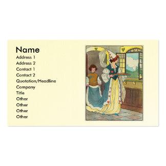 La reina de corazones, ella hizo algunas tartas tarjetas de visita