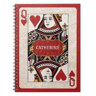 La reina de corazones personalizó el cuaderno