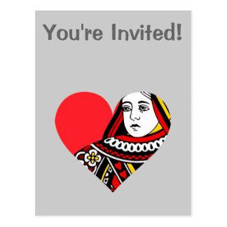 La reina de corazones tarjetas postales