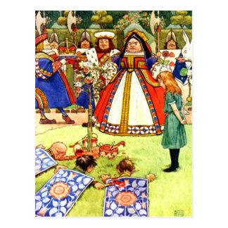 La reina de corazones y Alicia en el país de las Tarjetas Postales