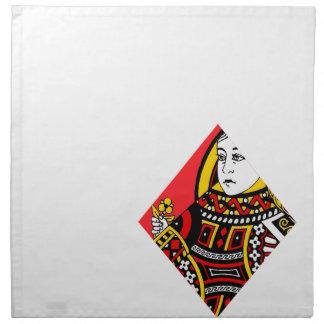 La reina de diamantes servilletas imprimidas