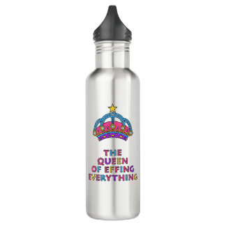 La reina de Effing todo botella de agua