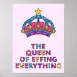 """La reina de Effing todo poster 18"""" x 24"""""""