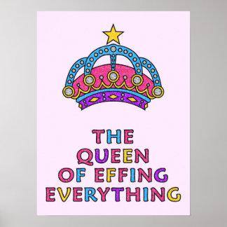 La reina de Effing todo poster 18 x 24