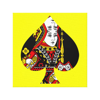 La reina de espadas lona envuelta para galerias
