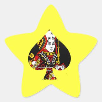 La reina de espadas pegatina en forma de estrella