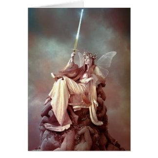 la reina de espadas tarjeta de felicitación