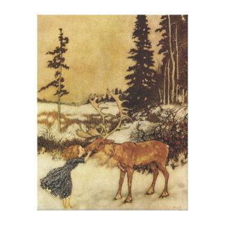 La reina de la nieve con el cuento de hadas de Ger Lona Envuelta Para Galerías