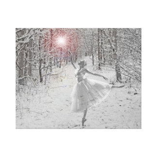 La reina de la nieve impresión en lienzo estirada