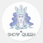 La reina de la nieve pegatinas redondas