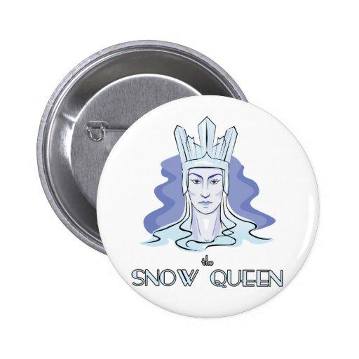 La reina de la nieve pin redondo 5 cm