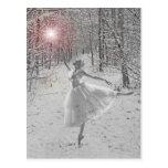 La reina de la nieve tarjeta postal