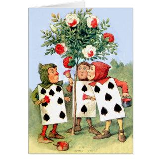 La reina de la pintura de Cardmen de los corazones Felicitacion