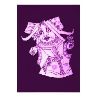 La reina de Lewis Carroll Invitación 12,7 X 17,8 Cm