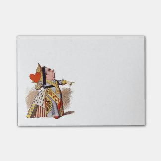 La reina de los corazones - notas de post-it nota post-it