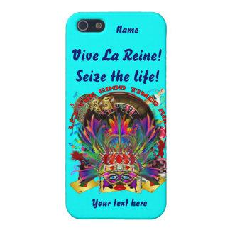 La reina de Vegas ve por favor comentarios del art iPhone 5 Carcasas