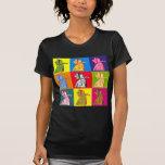 La reina del arte pop de los corazones camisetas