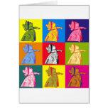 La reina del arte pop de los corazones tarjetas