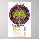"""La reina del carnaval 40"""" X 60"""" las notas de la vi Poster"""