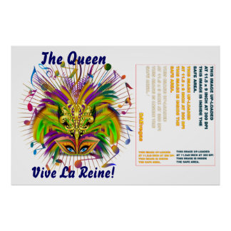 """La reina del carnaval 60"""" X 40"""" las notas de la Póster"""