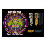 """La reina del carnaval 60"""" X 40"""" las notas de la vi Posters"""