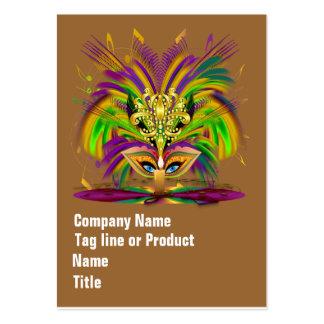 La reina del carnaval ve por favor indirectas tarjetas de visita grandes