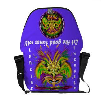 La reina del carnaval ve por favor notas bolsas de mensajería