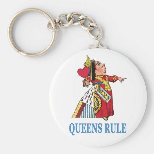 """¡La reina del corazón declara, """"regla del Queens!  Llavero"""