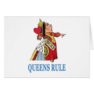 "¡La reina del corazón declara, ""regla del Queens!  Tarjeton"