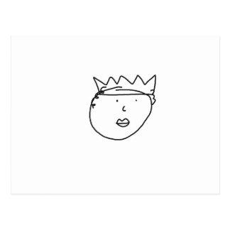 La reina del dibujo de Inglaterra de Han Tarjeta Postal
