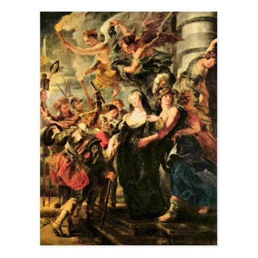 La reina del Medici se escapa de Blois de Rubens Postales